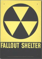 A Fallout Shelter Sign from the 1960s.