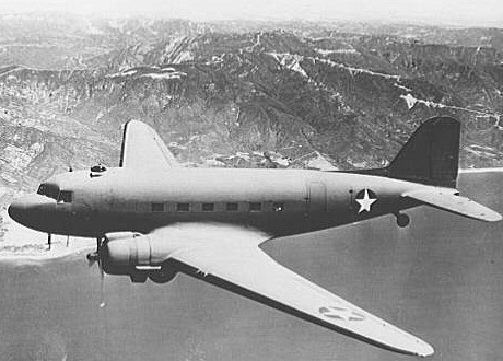 Douglas C-47 in Flight.Douglas Aircraft Co., 1943. Library of Congress Collection
