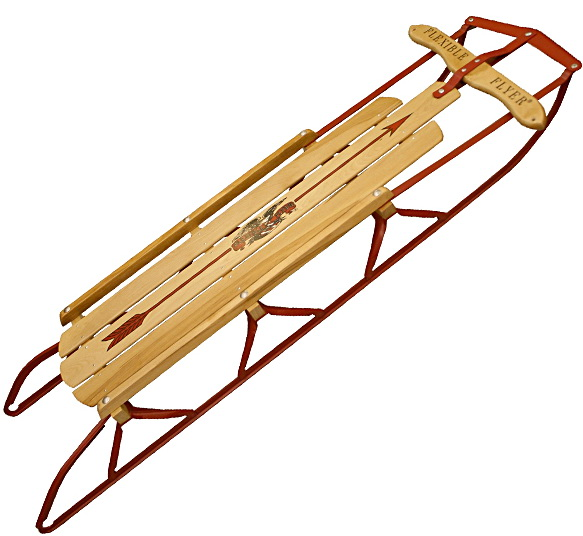 A Flexible Flyer Sled, The King of the Hill!