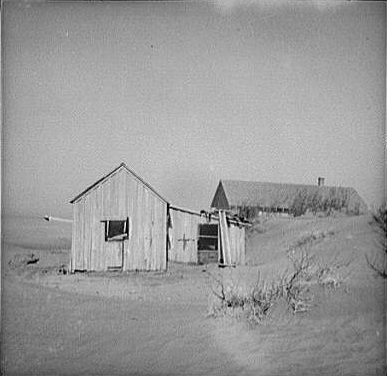 Abandoned Farm in the Dust Bowl Area of Oklahoma, 1936. Photo by Dorothea Lange.